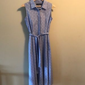 Tommy Hilfiger blue cotton dotted shirtdress